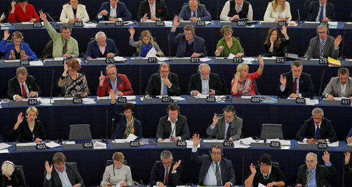 Members of the European Parliament take part in a voting session at the European Parliament in Strasbourg, France, December 14, 2016.