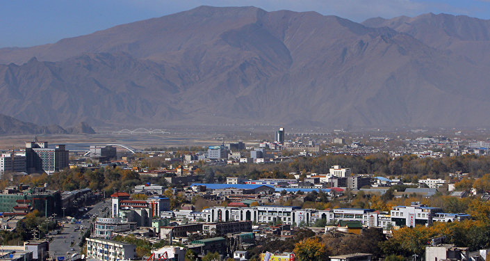 A panorama of Lhasa, the capital of Tibet. (File)