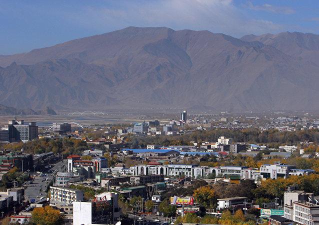 A panorama of Lhasa, the capital of Tibet. (File)