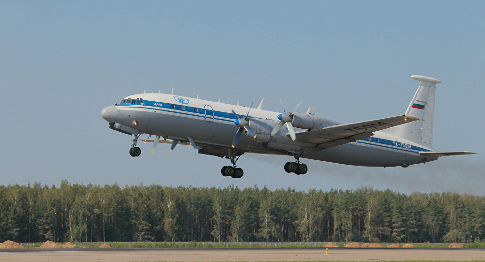Il-18 aircraft at Chkalovsky airport (File)