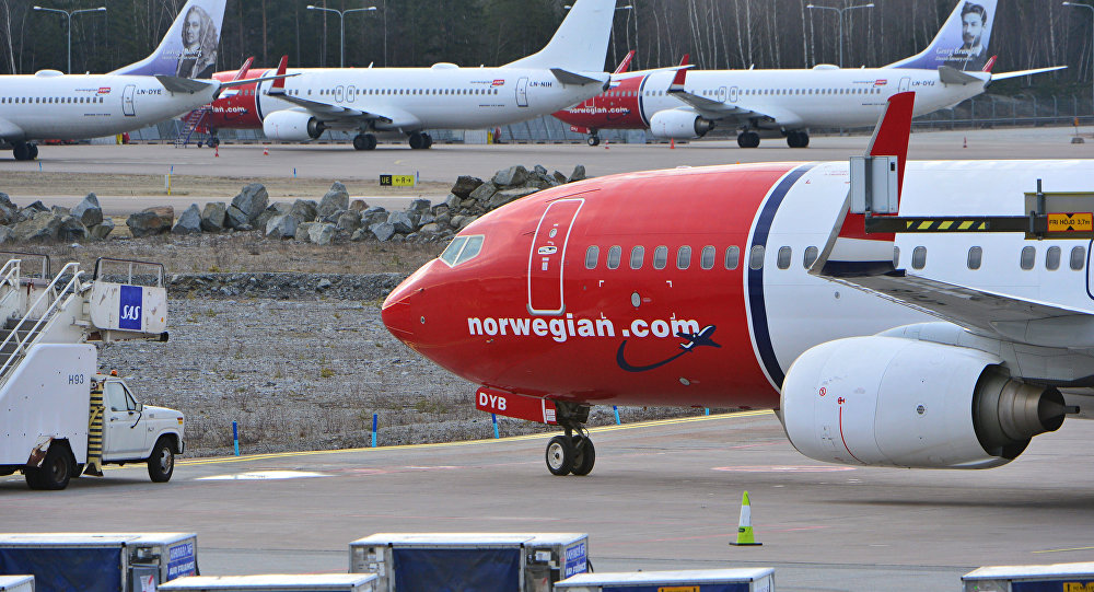 Aircrafts of Norwegian low-cost airline Norwegian Air Shuttle are parked at Arlanda airport in Stockholm, Sweden, on March 5, 2015