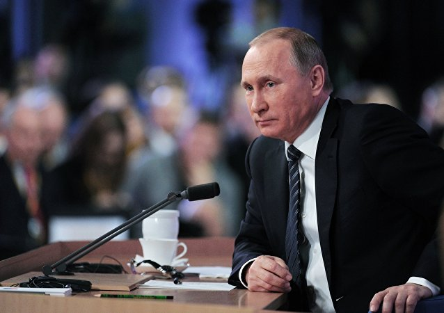 11th annual news conference with Russian President Vladimir Putin