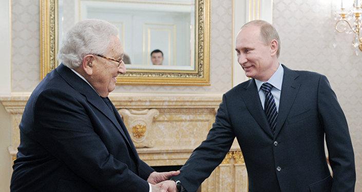 Prime Minister Vladimir Putin meets with former US State Secretary Henry Kissinger