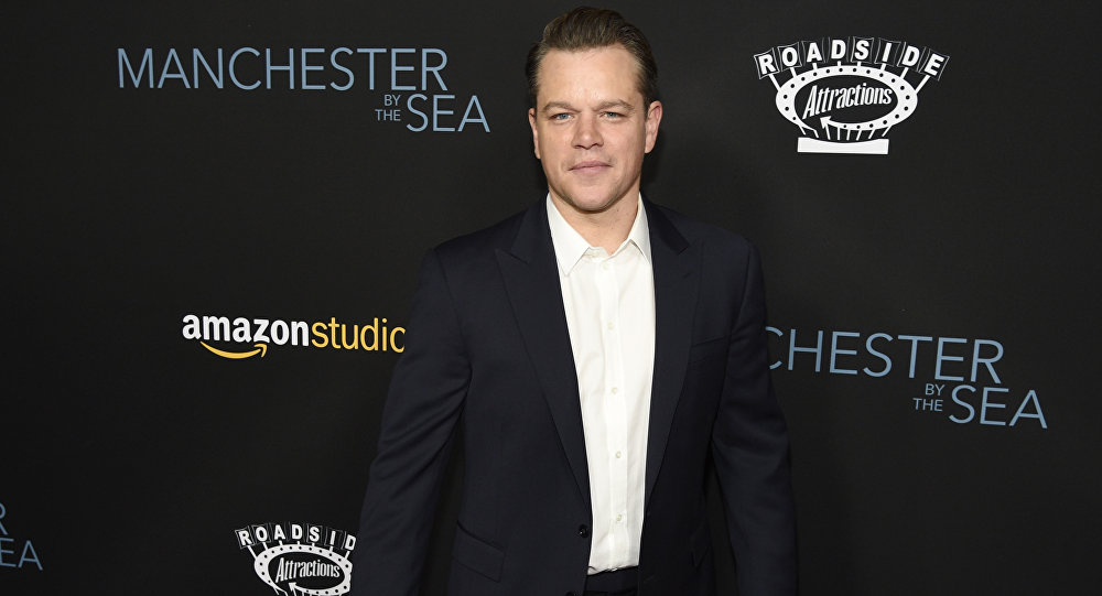 Matt Damon, producer of Manchester by the Sea, poses at the premiere of the film at the Samuel Goldwyn Theater in Beverly Hills, Calif
