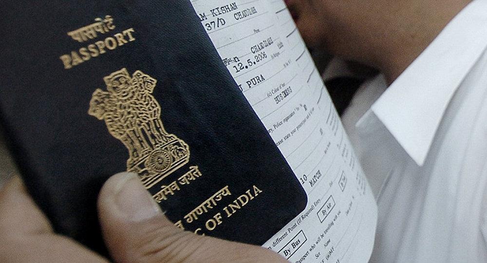 Indian passport. (File)