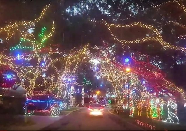 Beautiful Christmas Display near Jupiter, FL