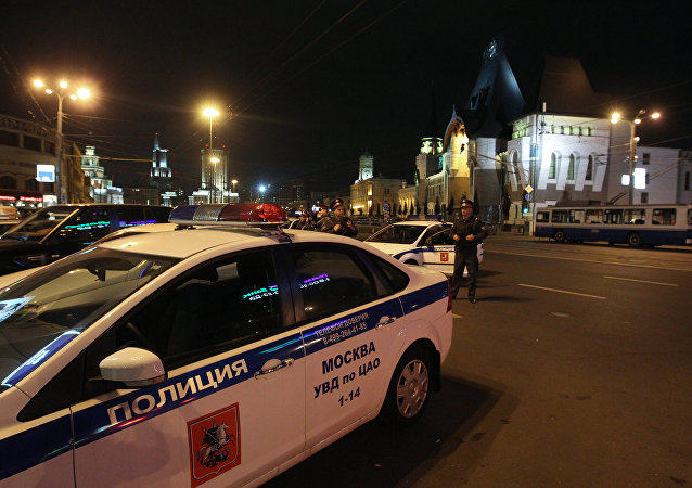 Law enforcement officers on Komsomolskaya Square. File photo