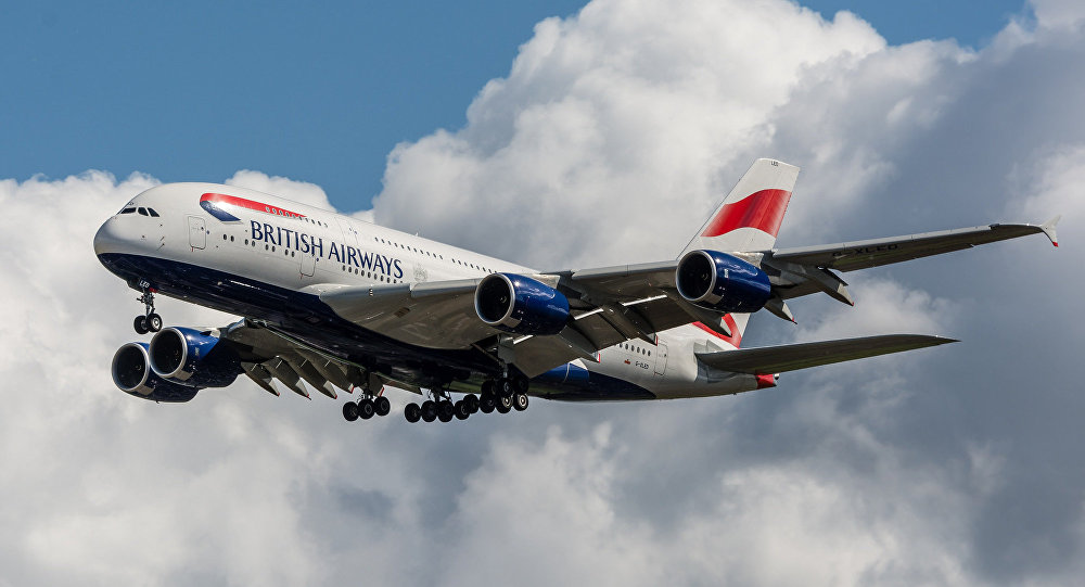 British Airways A380-841 G-XLED