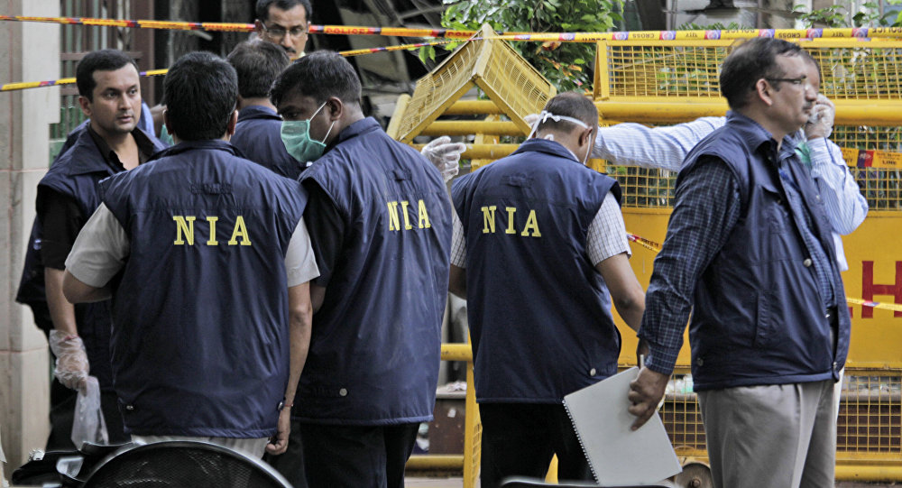 Officers of the National Investigation Agency. File photo