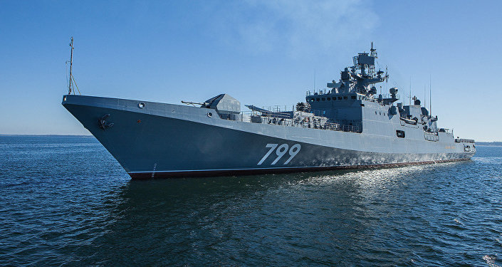 Frigate Admiral Makarov makes the transition to the Black Sea Fleet