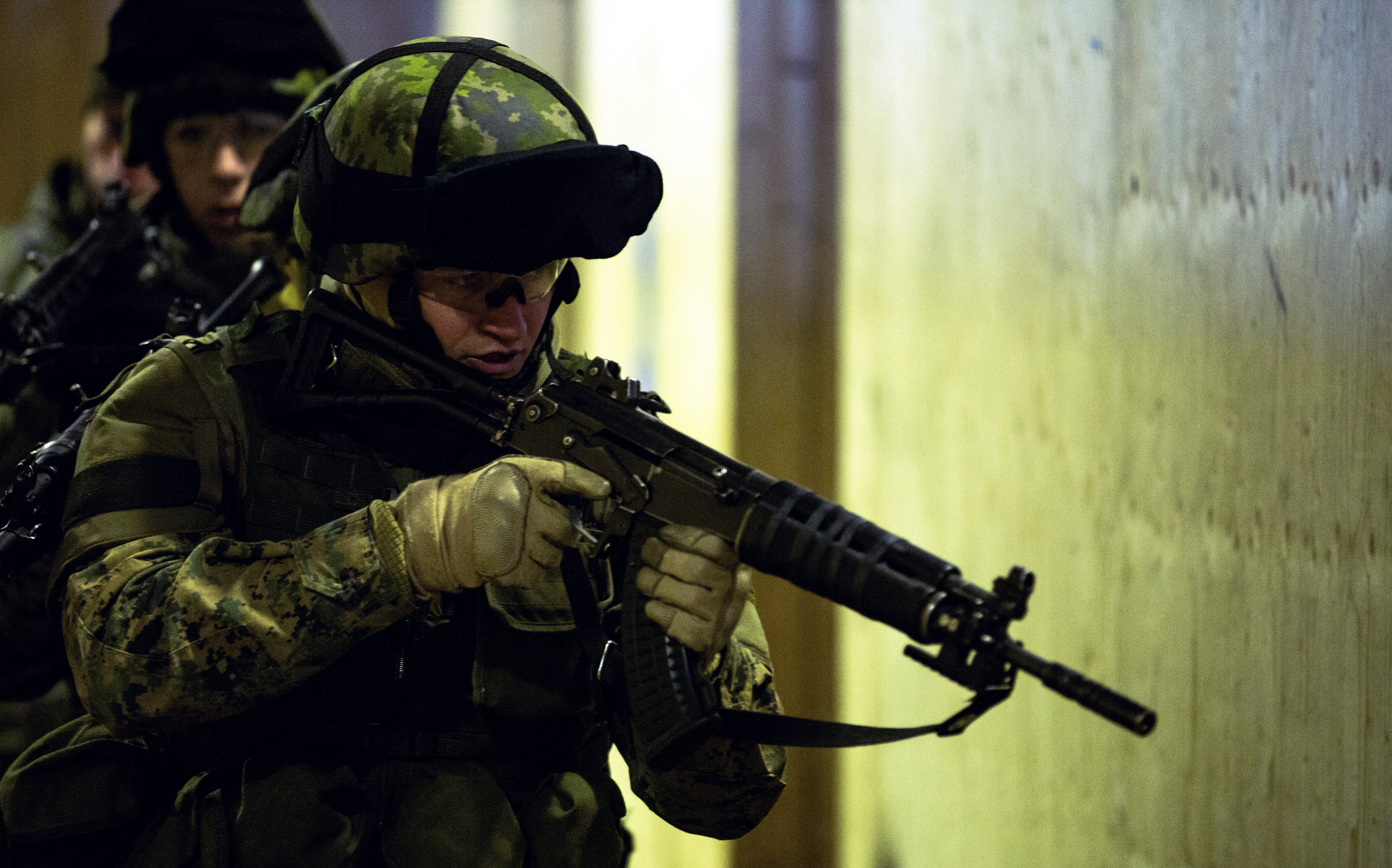 A marine with the RK 95 TP assault rifle