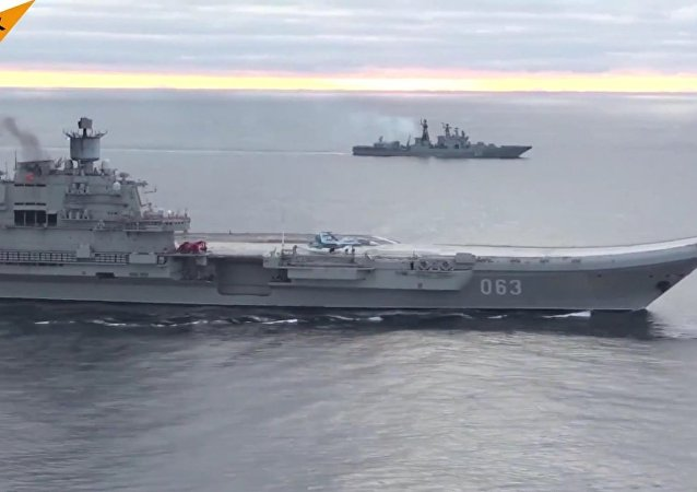 Admiral Kuznetsov In Action