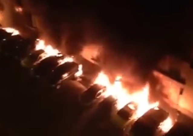 Cars set ablaze in France, New Year's Eve 2016