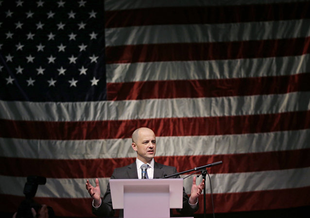 Independent presidential candidate Evan McMullin speaks to his supporters during a election night watch party after Republican Donald Trump won Utah Tuesday, Nov. 8, 2016, in Salt Lake City. Trump won Utah's six electoral votes.