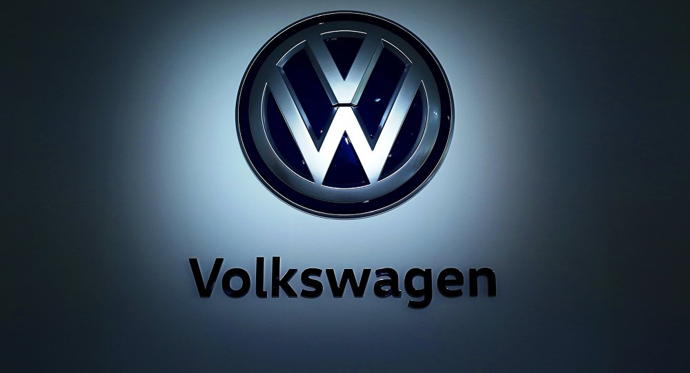 The logo of German carmaker Volkswagen (VW) is pictured at the company's head quarters on November 22, 2016 in Wolfsburg, northern Germany.