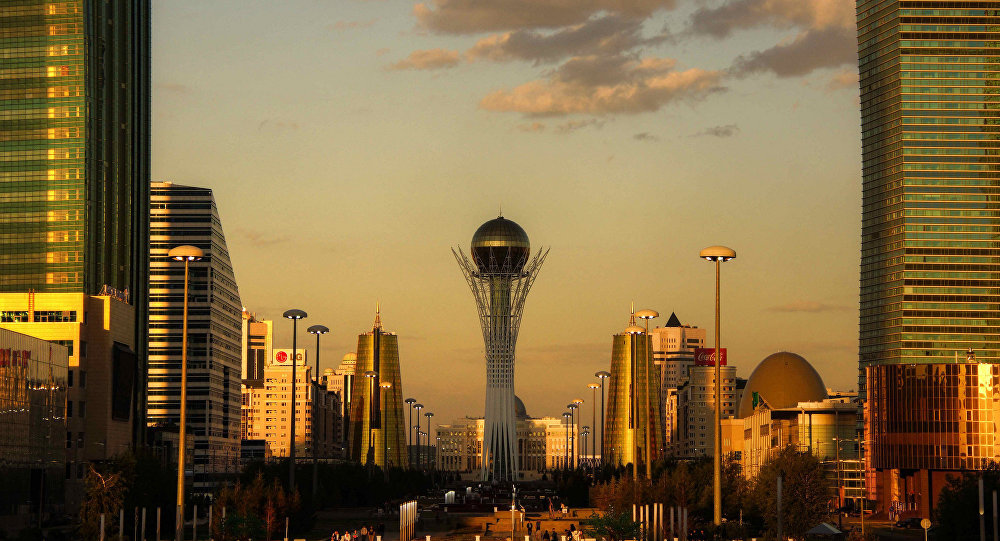 Astana golden hour. Kazakhstan