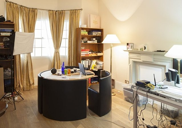 Assange's room