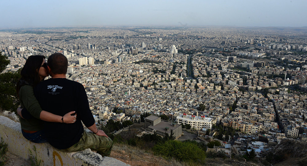 View of Damascus from Mount Qasioun