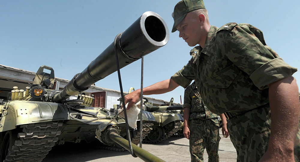Russian forces on the territory of the 201st military base in Tajikistan. File photo