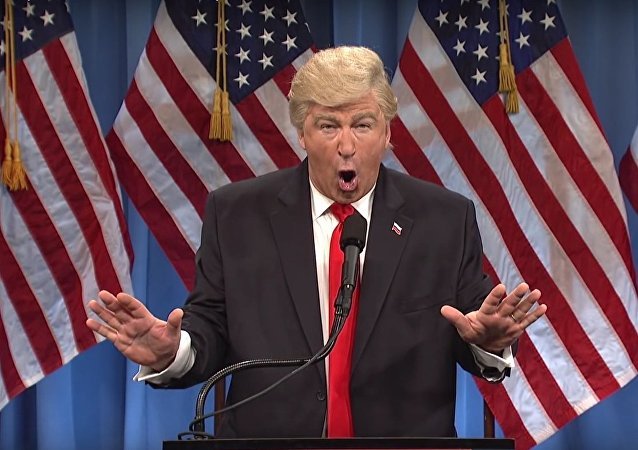 Alec Baldwin plays Donald Trump on SNL. Screengrab.