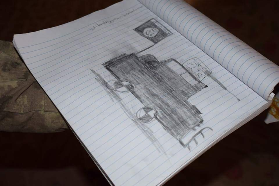 Drawings of Children Enslaved by Daesh Found in Mosul