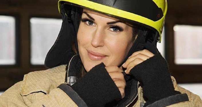 Female firefighter Gunn Narten from Norway