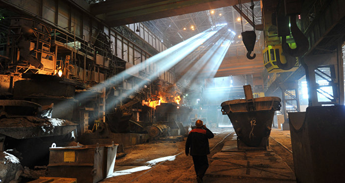 Worker in the shop at the Taganrog Metallurgical Plant TAGMET. File photo