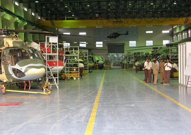 Production line of the HAL Dhruv at Bangalore