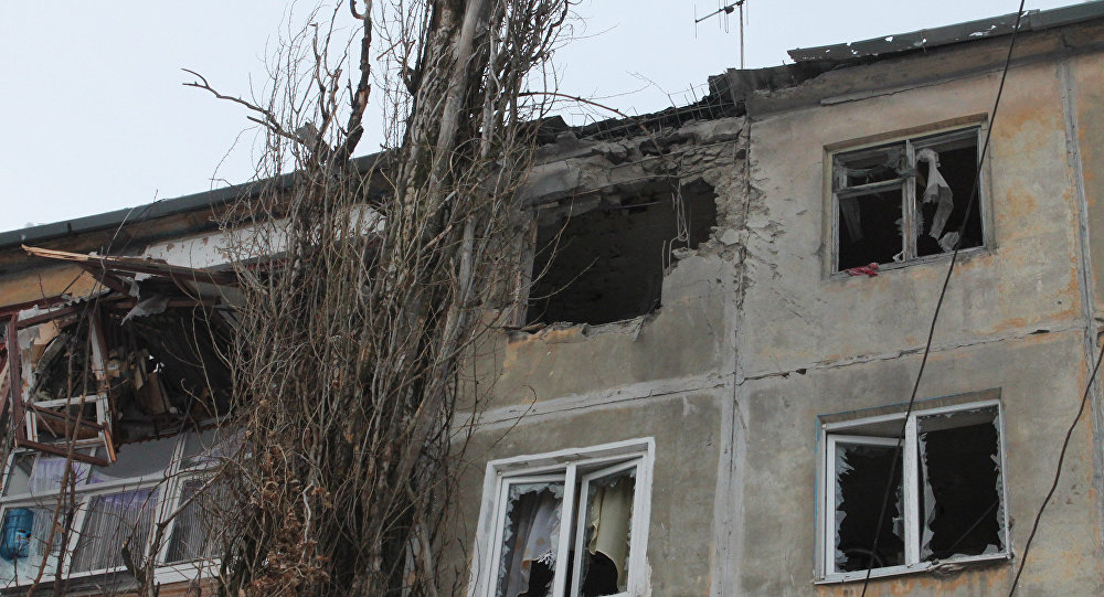 Donetsk after shelling