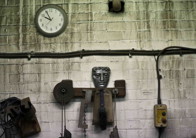A model of a British Academy of Film and Television Awards (BAFTA) mask is seen at a foundry in west London, Britain January 31, 2017.