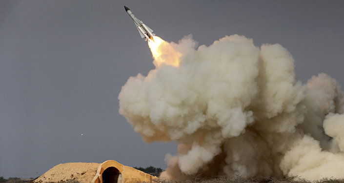 FILE -- In this Dec. 29, 2016 file photo of a long-range S-200 missile being fired in a military drill
