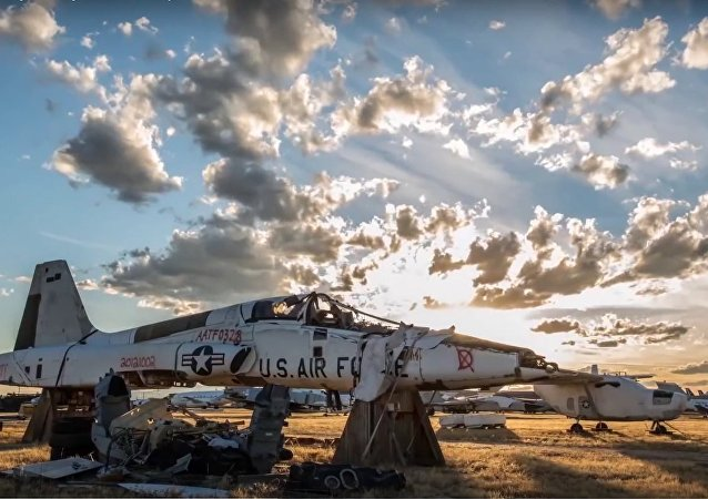 Surreal Military Boneyard Time-lapse