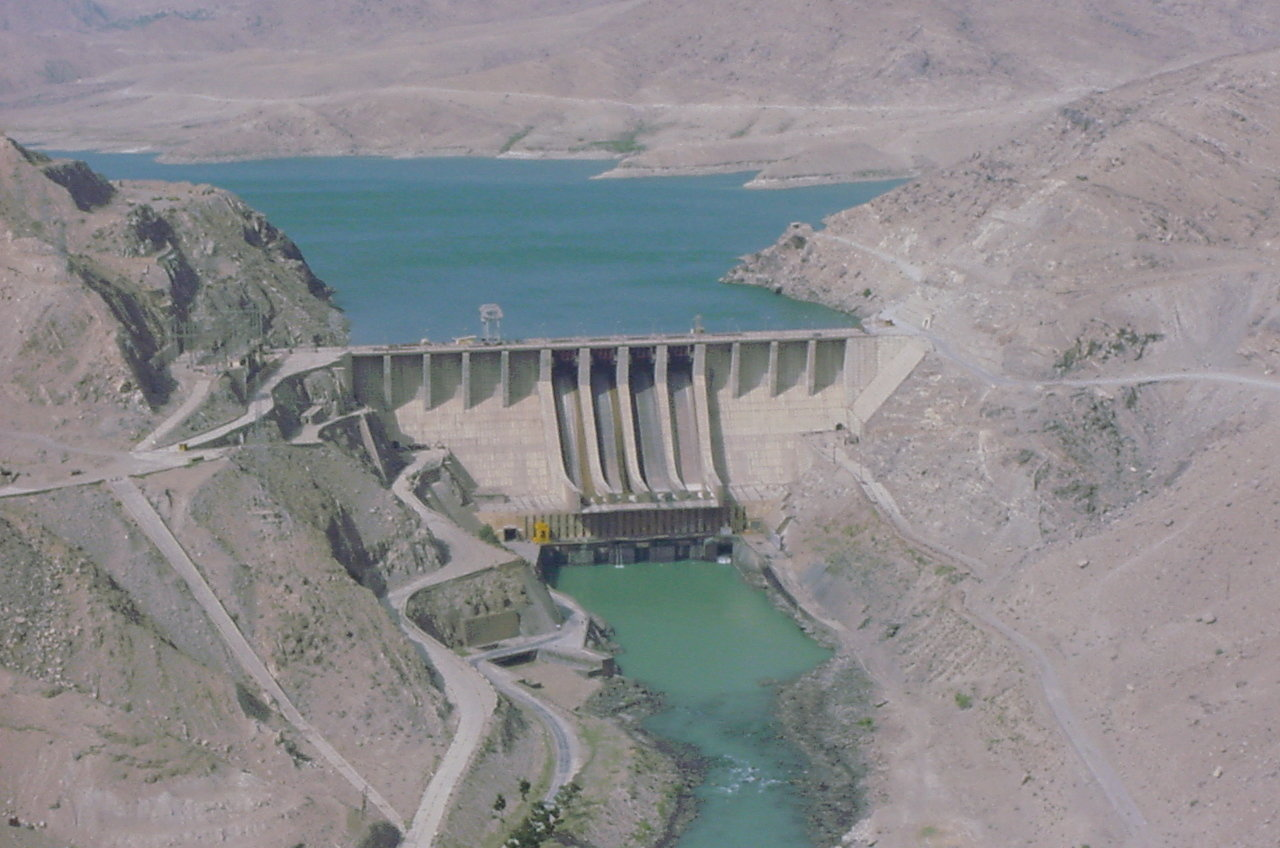Naghlu Dam, located in Surobi District of Kabul Province in eastern Afghanistan