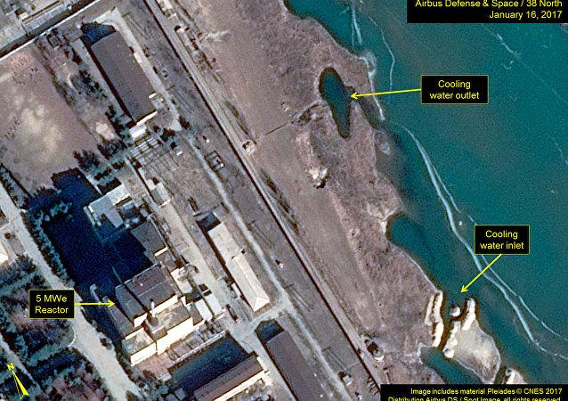 Map of North Korea's Yongbyon nuclear facility