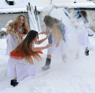 Winter Outdoor Fun Russian-Style