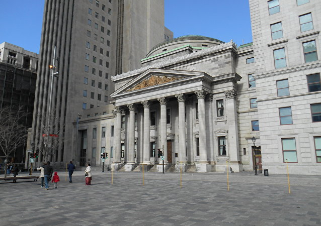 The main Montreal branch of the Bank of Montreal, Canada's oldest bank