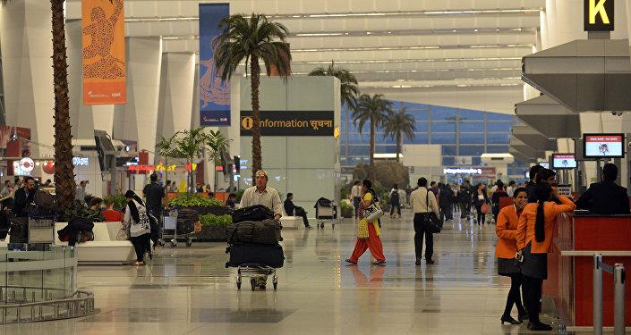 Terminal 3 of Indira Gandhi International airport in New Delhi