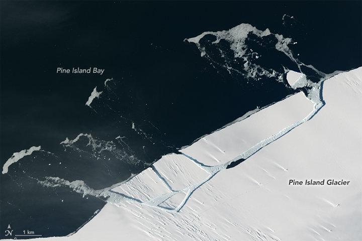 Pine Island Glacier Break