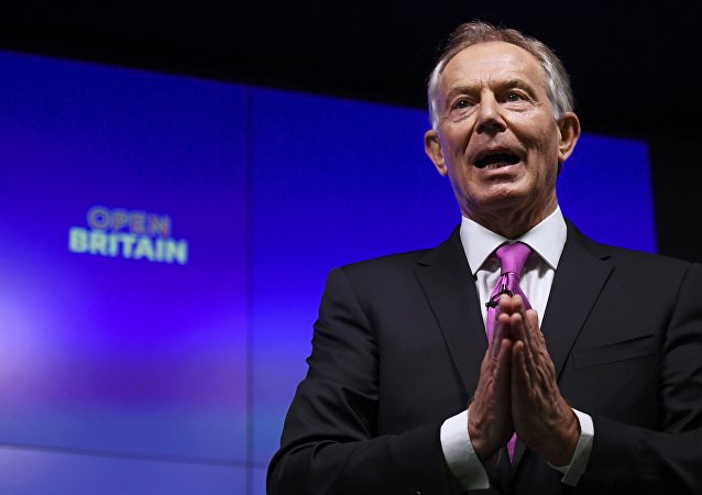Former British Prime Minister Tony Blair delivers a keynote speech at a pro-Europe event in London, Britain, February 17, 2017.