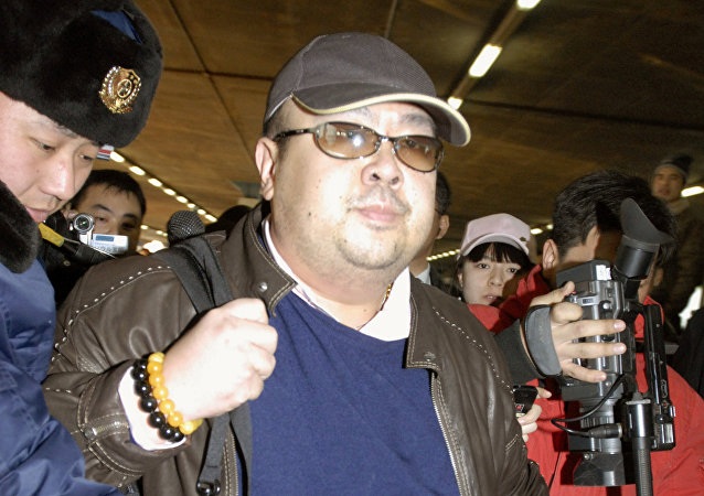 Kim Jong-mam arrives at Beijing airport in Beijing, China, in this photo taken by Kyodo February 11, 2007. Picture taken February 11, 2007