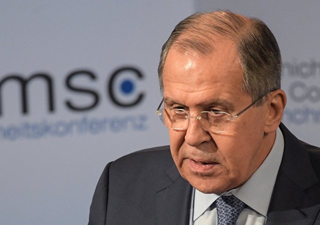 Russian Foreign Minister Sergey Lavrov at the 53rd Munich Security Conference