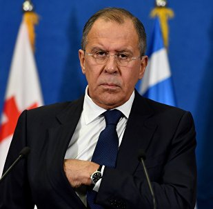 Russian Foreign Minister Sergey Lavrov during press conference on December 13, 2016