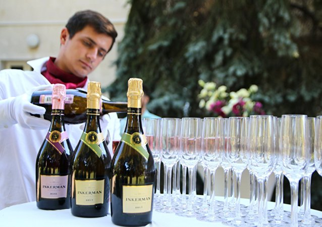 Wine tasting at the Inkerman Winery in Crimea