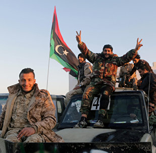 Libyans celebrate the sixth anniversary of the Libyan revolution, in Benghazi, Libya February 17, 2017