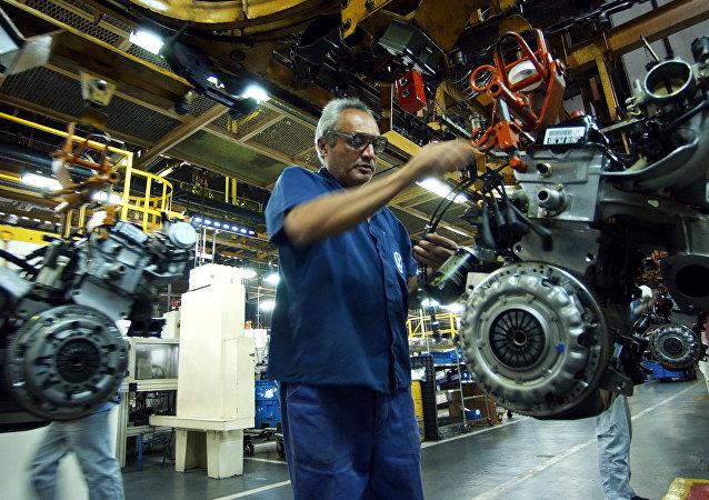 Brazilian cars factory (File)