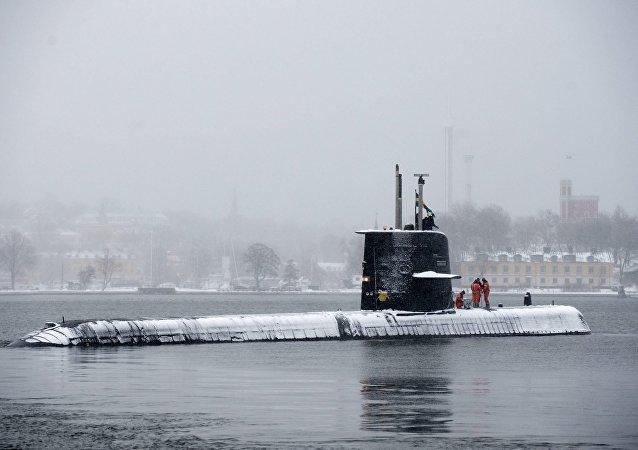 Swedish submarine HMS Halland (File)
