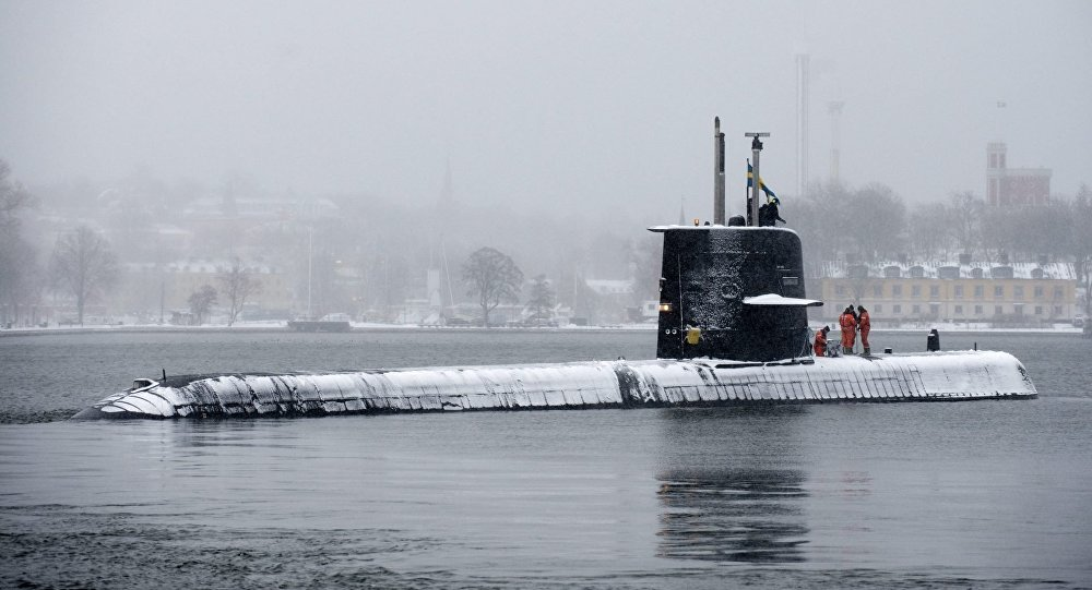 Swedish submarine HMS Halland (File)