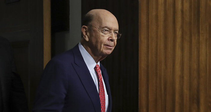 Commerce Secretary-designate Wilbur Ross returns back to the hearing room after a brief recess on Capitol Hill in Washington, Wednesday, Jan. 18, 2017, at his confirmation hearing before the Senate Commerce Committee