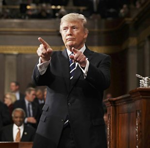 U.S. President Donald Trump reacts after delivering his first address to a joint session of Congress from the floor of the House of Representatives in Washington, U.S., February 28, 2017