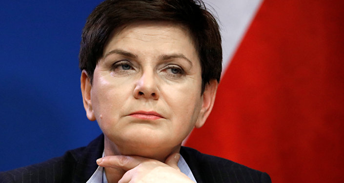 Poland's Prime Minister Beata Szydlo holds a news conference at the end of a European Union leaders summit in Brussels, Belgium, March 10, 2017.